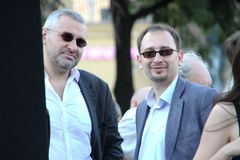 Lawyers Mark Feygin and Nikolay Polozov Stock Photography