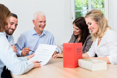 Lawyers in meeting negotiating agreement Royalty Free Stock Photo
