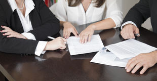 Lawyers preparing a case Stock Images