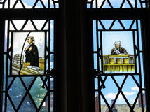 Lawyers Stained Glass Law Library Yale University New Haven Connecticut Royalty Free Stock Photos