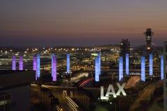 LAX鸟瞰图  免版税图库摄影
