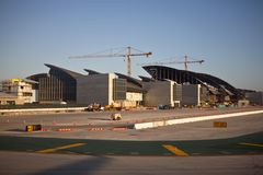 LAX Airport Bradley Terminal Construction Royalty Free Stock Photos