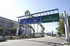 LAX Airport Highway. Highway to Los Angeles Airport Royalty Free Stock Image