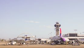 LAX Ready for Takeoff Royalty Free Stock Photo