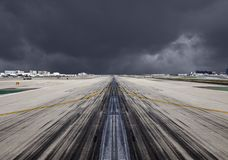 LAX Runway Severe Storm Stock Photo