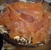 Lax saltad fiskrainbowroatfisk Arkivfoto