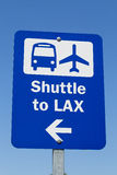 LAX Shuttle Sign Royalty Free Stock Photos