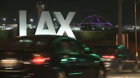 LAX Traffic Timelapse stock footage