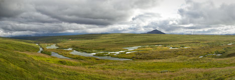 Laxa river panorama Royalty Free Stock Photos