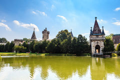 Laxenburg. Castle, Lower Austria, a huge park with green trees, lakes and a beautifull castle Stock Images