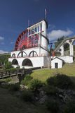 Laxey Waterwheel. Laxey water wheel in the Isle of Man Royalty Free Stock Photography