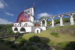Laxey Waterwheel. Water wheel at Laxey in the Isle of Man Stock Photos