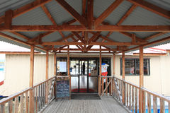 Laxlantgård nära Twizel, södra ö, Nya Zeeland Royaltyfria Bilder