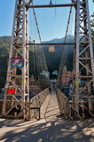 Laxman Jhula bridge over Ganges river Stock Photography