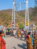 Laxman Jhula footbridge in Rishikesh Royalty Free Stock Photos