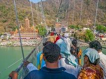 Laxman Jhula footbridge in Rishikesh Royalty Free Stock Image