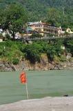 Laxman Julla, Rishikesh, Inde La rivière le Gange Photo libre de droits