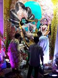 Laxmi avec Narayan photographie stock libre de droits