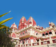 Laxmi Narayan temple. Or birla madir at blue sky in new delhi, India. Free space for your text royalty free stock photos