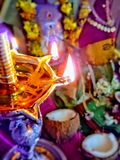 Laxmi pooja. Divine pooja in hindu tradition Stock Images