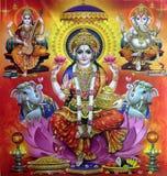 Laxmi, Saraswati et Ganesha Photos stock