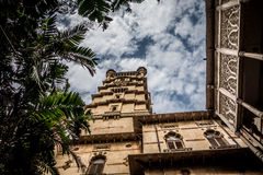 Laxmi Vilas pałac podwórze zdjęcia royalty free