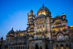 Laxmi Vilas Palace at sunset Royalty Free Stock Photos