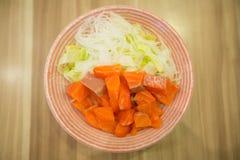 Laxsallad, japansk mat Arkivfoto