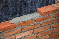 Lay Brick Wall, building brick wall 2 Royalty Free Stock Images
