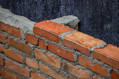 Lay Brick Wall, building brick wall Stock Photo