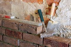 Lay a brick wall Royalty Free Stock Photography