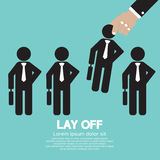 Lay Off. Concept Vector Illustration Stock Photos