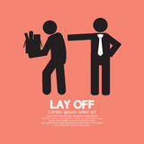 Lay Off. Graphic Vector Illustration Stock Photography