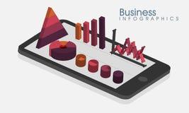 Lay-out de bedrijfs van Infographic met tablet Royalty-vrije Stock Afbeelding