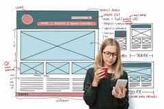 Lay Out Design Internet Organization Blogging Concept Stock Photos