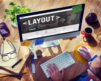 Lay-out het Uitgeven Concept van het Pagina het Ontvankelijke Ontwerp Royalty-vrije Stock Foto