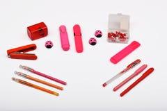 Lay-out-Objekte lokalisiert auf dem Thema - Valentinsgruß ` s Tag Stockbild