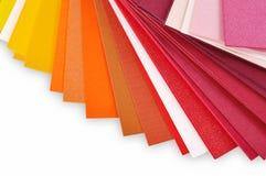 Lay-out van gekleurde paper3 Stock Foto