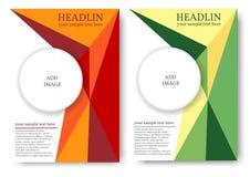 Lay-out voor tijdschrift of boekdekking met veelhoekig patroon royalty-vrije illustratie