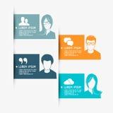 Lay-outs van de mensen de Vectorbanner Stock Fotografie