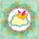 Lay-outvogel het Zingen Royalty-vrije Stock Afbeelding