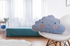 Lay your head on this happy pillow and sleep well Stock Photos