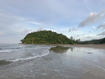 Layan海滩普吉岛泰国 免版税库存图片
