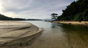 Layan海滩普吉岛泰国 库存照片
