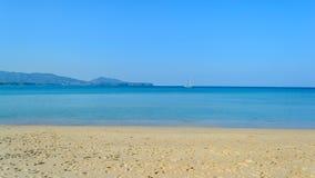 Layan beach with blue sky in Phuket Island Royalty Free Stock Photo