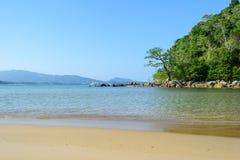 Layan beach with blue sky in Phuket ,Thailand Stock Photos