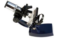 Layback Microscope. Microscope Tool to Look into MicroWorld; isolated with clipping path Stock Image