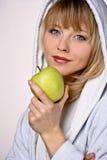 Layd die Appel eet Royalty-vrije Stock Foto
