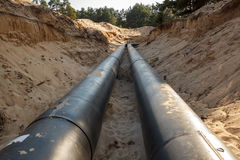 Layed pipeline construction Royalty Free Stock Photos