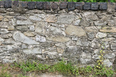 Layed rock fence Stock Images